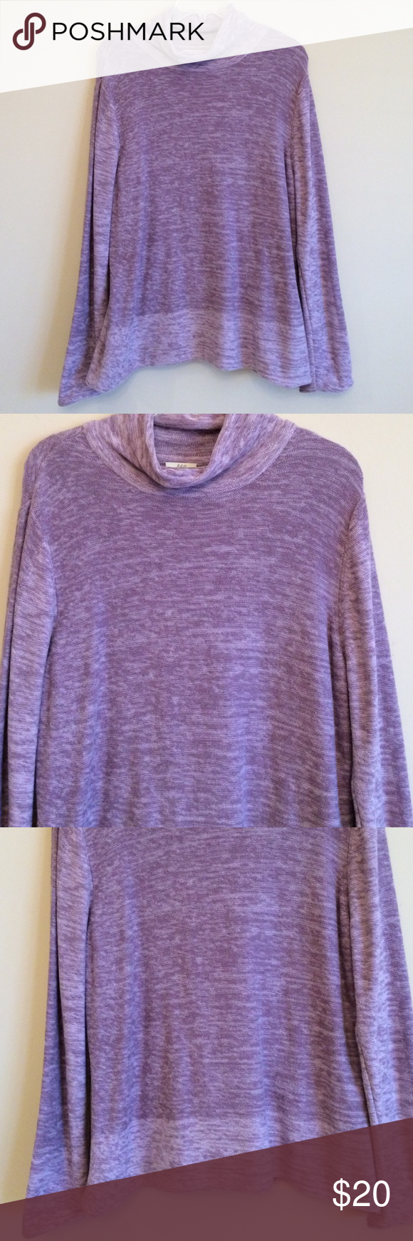 J Jill Purple Color Block Sweater Top | Light colors, Color ...
