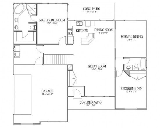 Rambler house plan tuscany l main floor lake house for House plans rambler