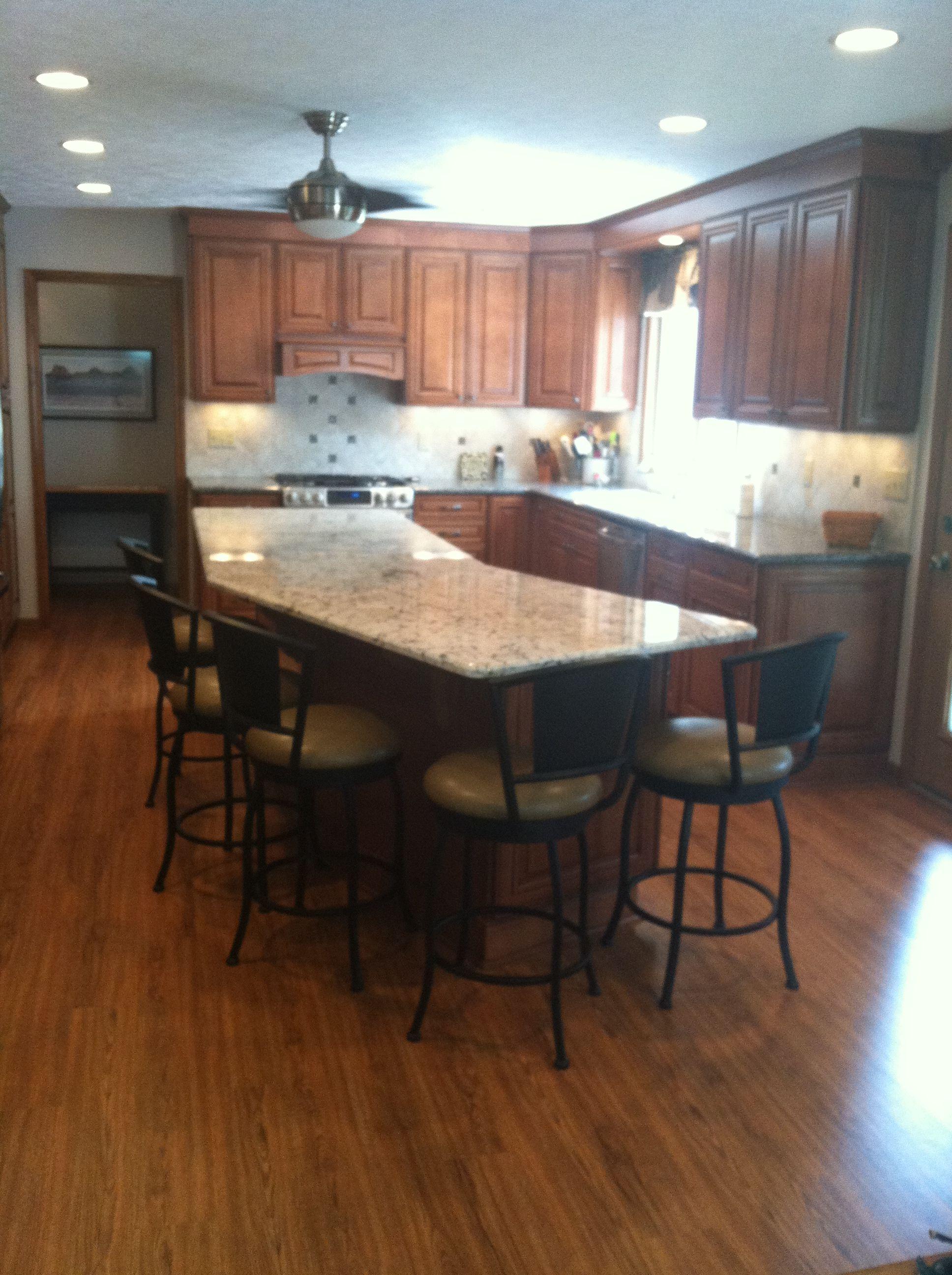 large open kitchen with lvp 6 luxury vinyl plank flooring using new market sweet auburn in 2019 on kitchen remodel vinyl flooring id=26395