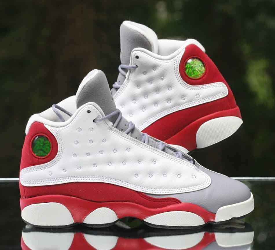 quality design 87de9 e9347 Nike Air Jordan 13 XIII Retro BG 'Grey Toe' White Black Red 414574-126 Size  5.5Y #Jordan #BasketballShoes