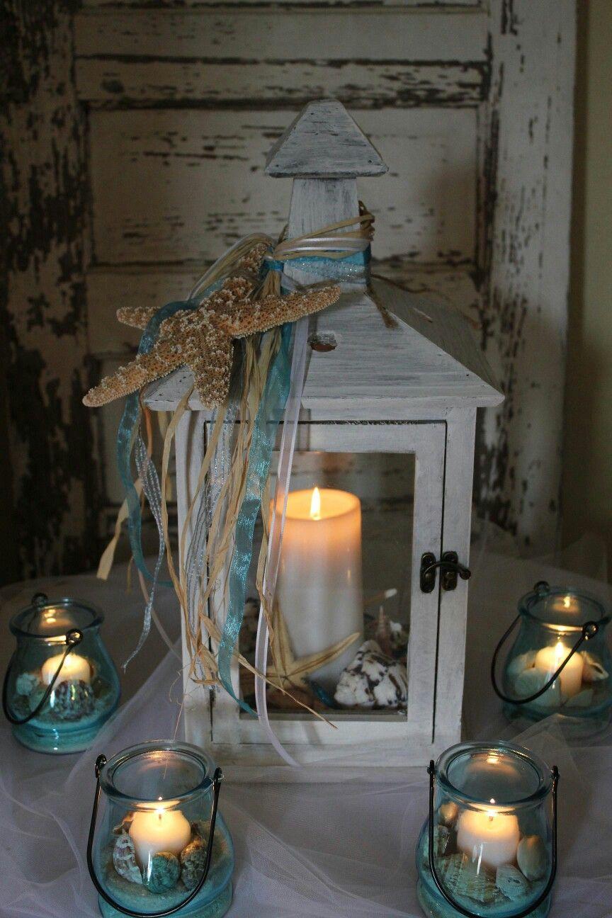 Lantern centerpieces of some sort beach wedding pinterest
