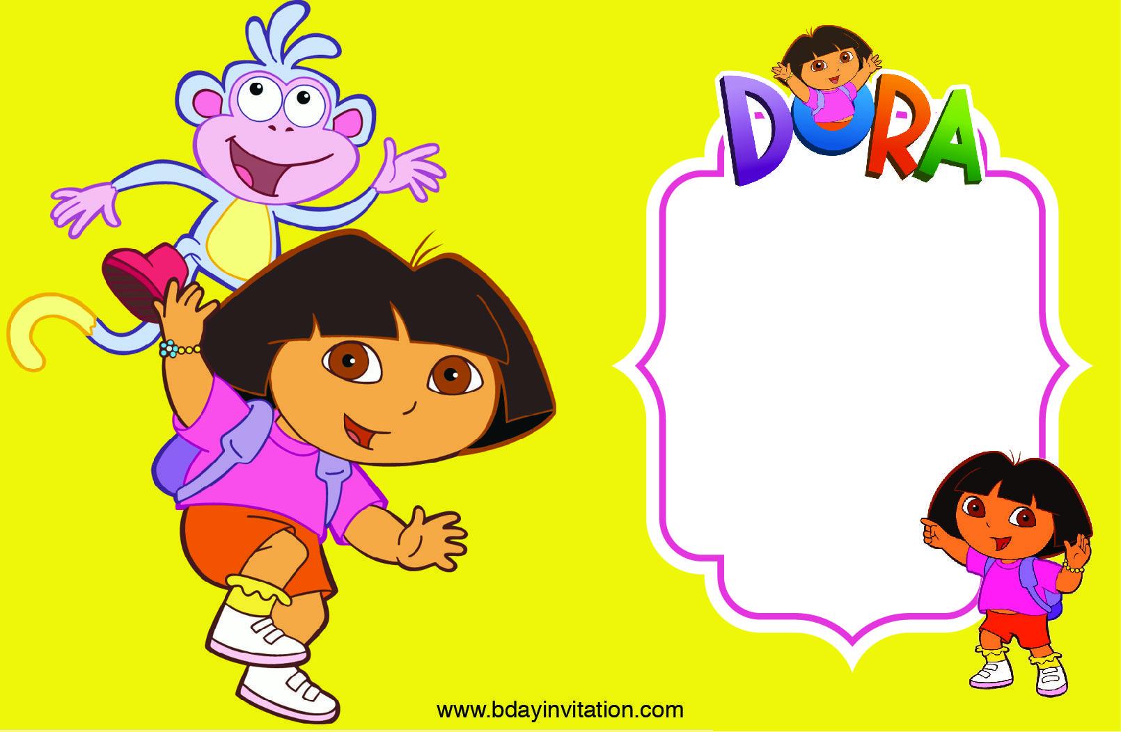 Download FREE Printable Dora The Explore Birthday Invitation ...