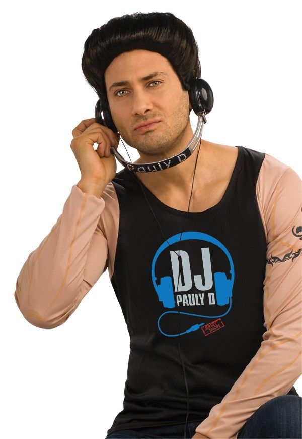 7aed324771cd Jersey Shore Paul DJ Pauly D Adult Headphones Costume Accessory ...