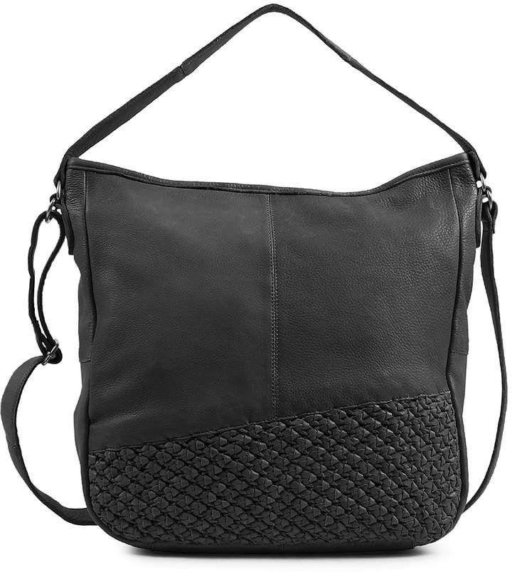 1c25546c180d Black Angel Leather Hobo