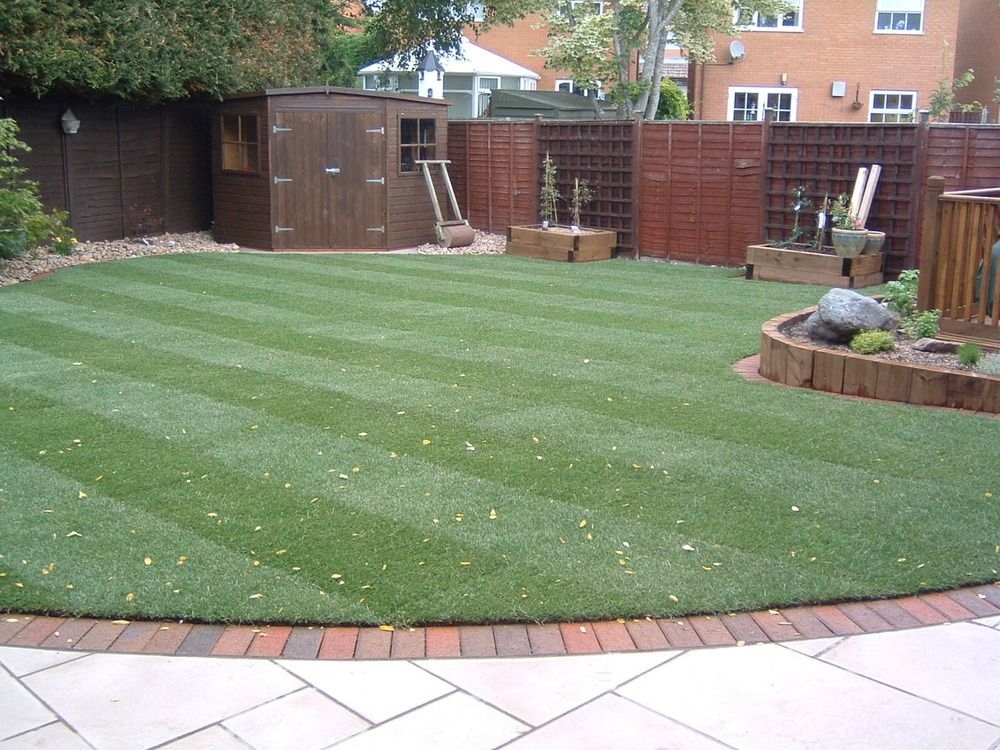 Garden Lawn With Striped Design. Make Your Home Design Dreams Come True.  Read Reviews