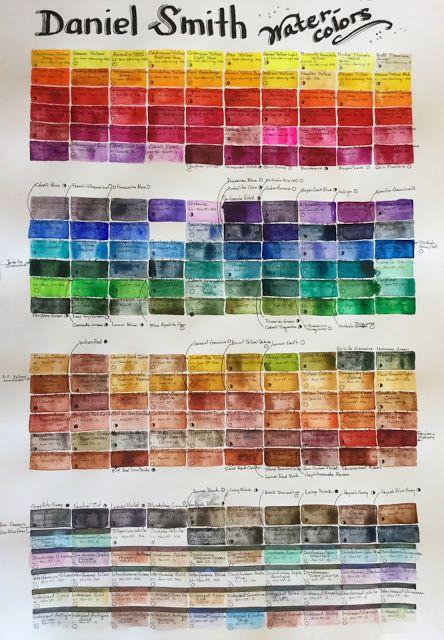Daniel Smith 240 Color Chart Pinterest Colour Chart And