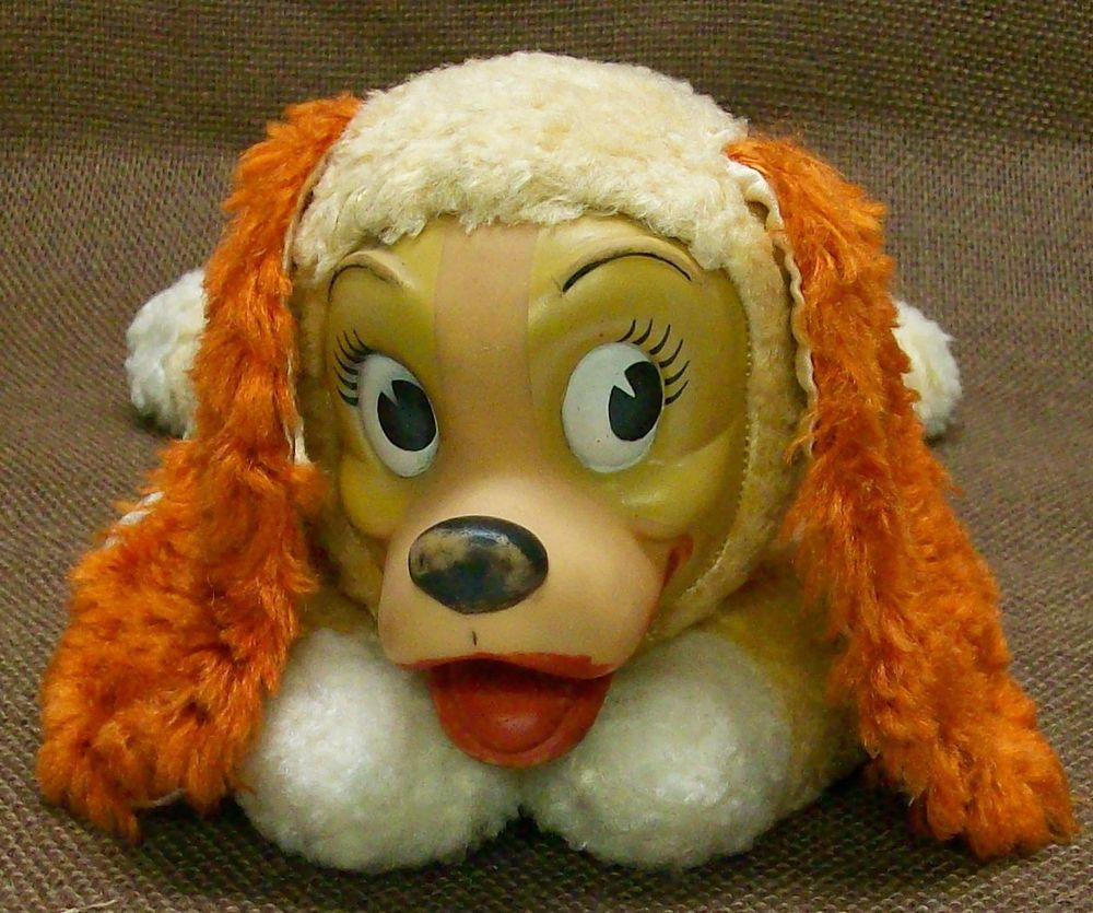 Htf Vintage Gund Lady The Tramp Dog Plush Stuffed Animal Rubber