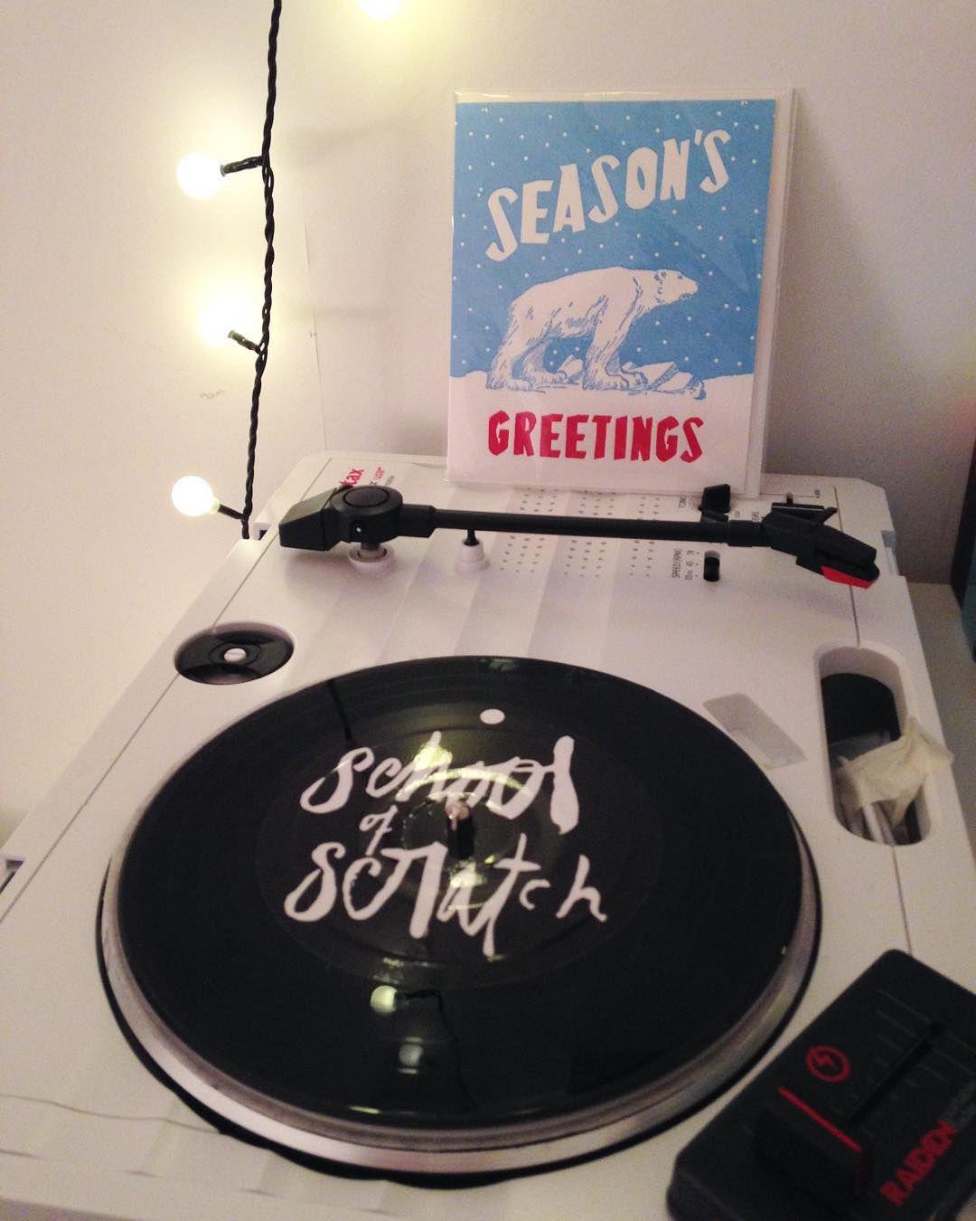 Seasons greetings from School of Scratch! It's getting festive up in here!  #Dj #skratch #skratching #scratch #scratching #turntablism #turntablist #technics #vinyl #polarbear by schoolofscratch http://ift.tt/1HNGVsC