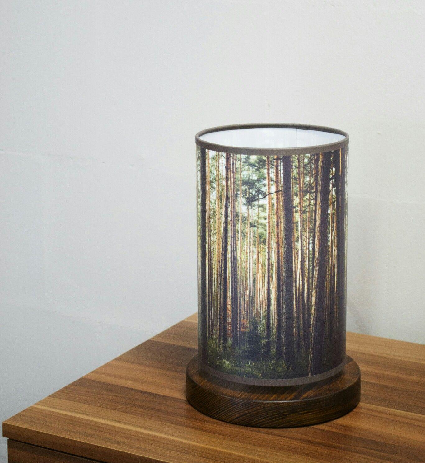 Lampa Stojaca Nocna Las Fotolampy Las Forest Wood Decoration Bedroom Lamp Light Lampa Nocna Stojaca With Images Lampy Lasy Produkty