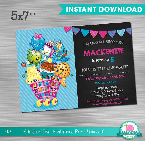 Shopkins invitation instant download edit by berryniceprintables doc mcstuffins invitation print yourself doc mcstuffins birthday doc mcstuffins party solutioingenieria Gallery