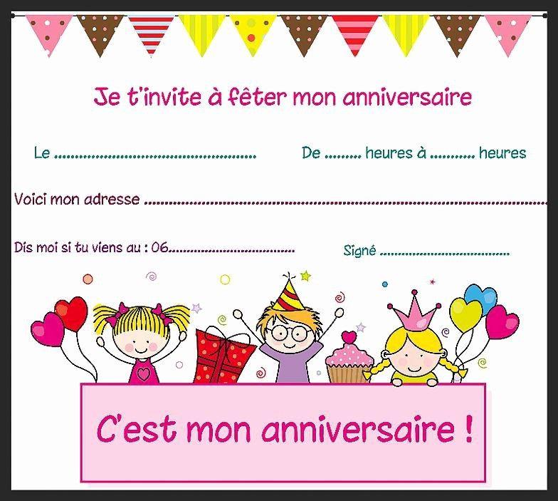 Carte D Anniversaire Pour Petite Fille De 8 Ans New Carte Carte Invitation Anniversaire Gratuite Carte Invitation Anniversaire Invitation Anniversaire Gratuite