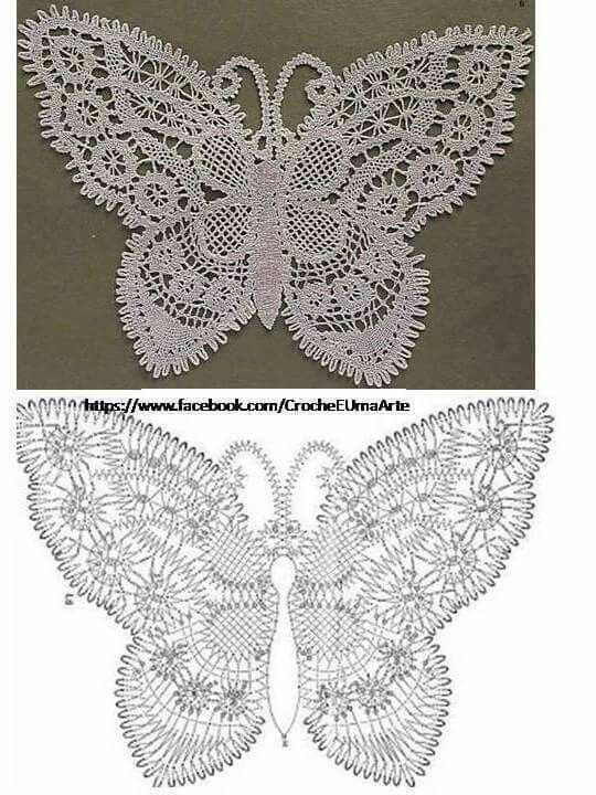 Pin de Inés Beatriz en Fantasías crochet | Pinterest | Mariposas ...