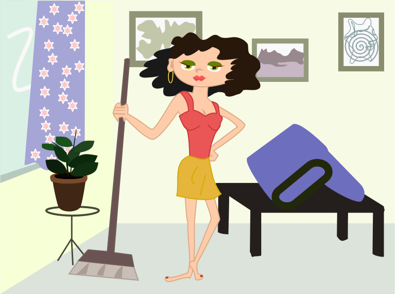 Cleaning Girl Clip Art | cleaning cartoon by OlKu - apartment ...