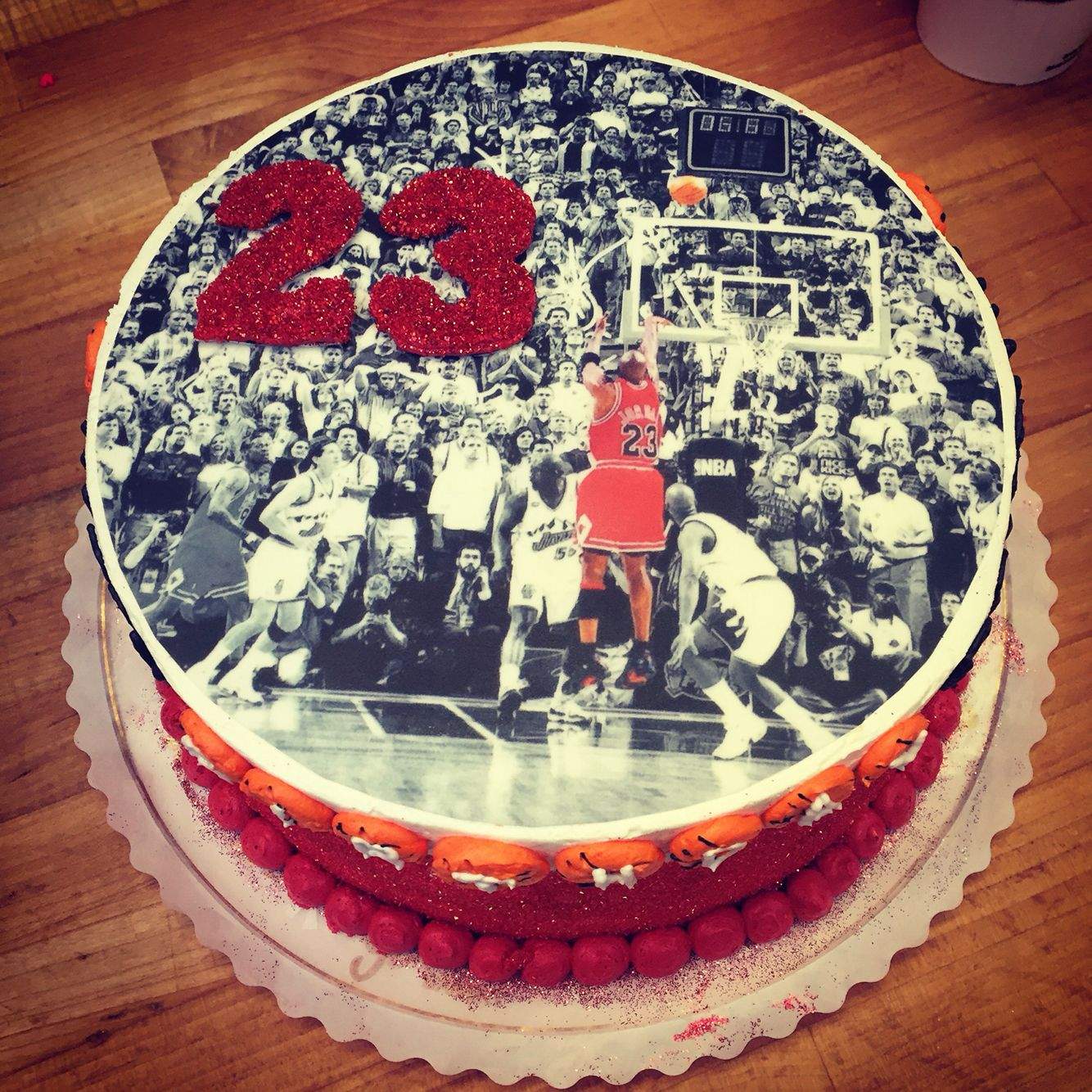 Chicago Bulls basketball 23rd birthday cake Michael Jordan cake