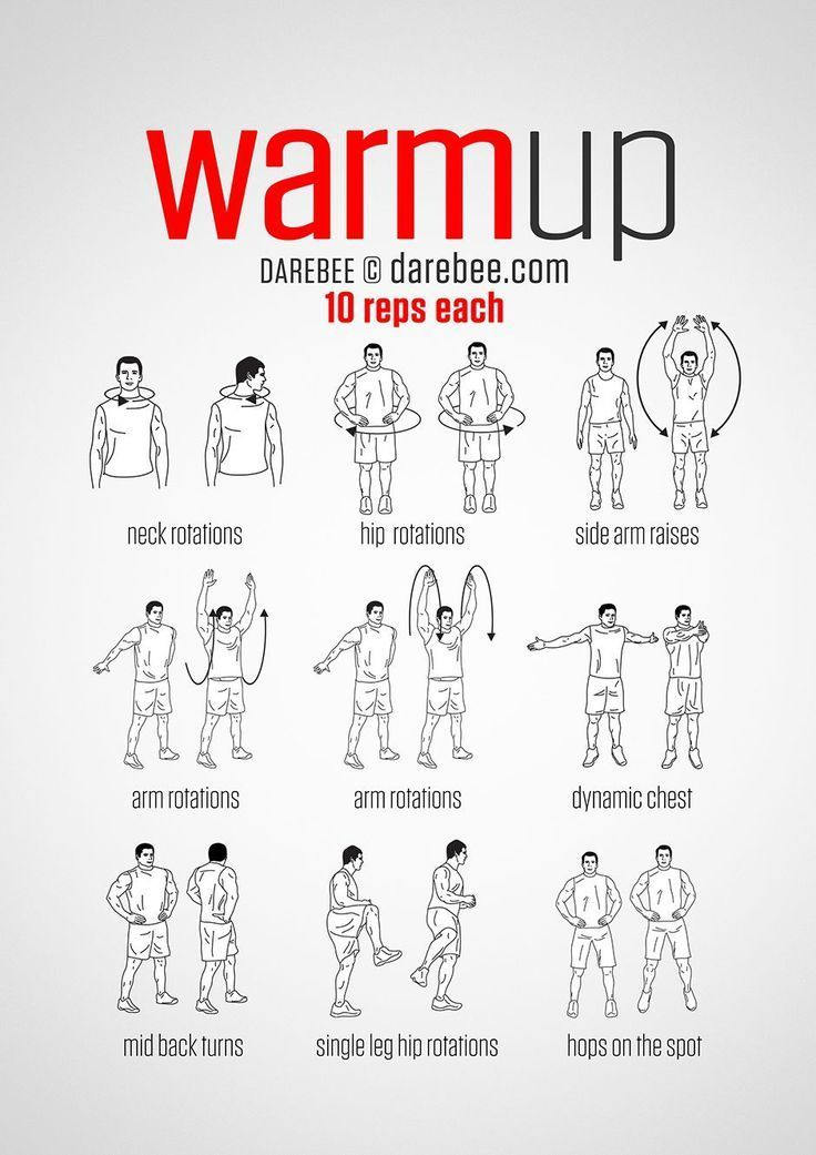 Pre-Workout Warm-Up (always warmup before your workout and then