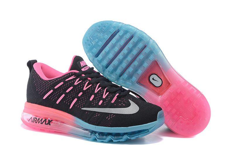 Nike Air Max 2016 Womens Black Blue Pink Running Shoes