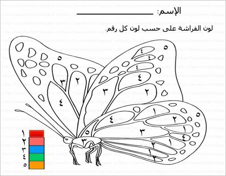 تلوين حسب الرقم Kids Learning Activities Learning Arabic Coloring Pages