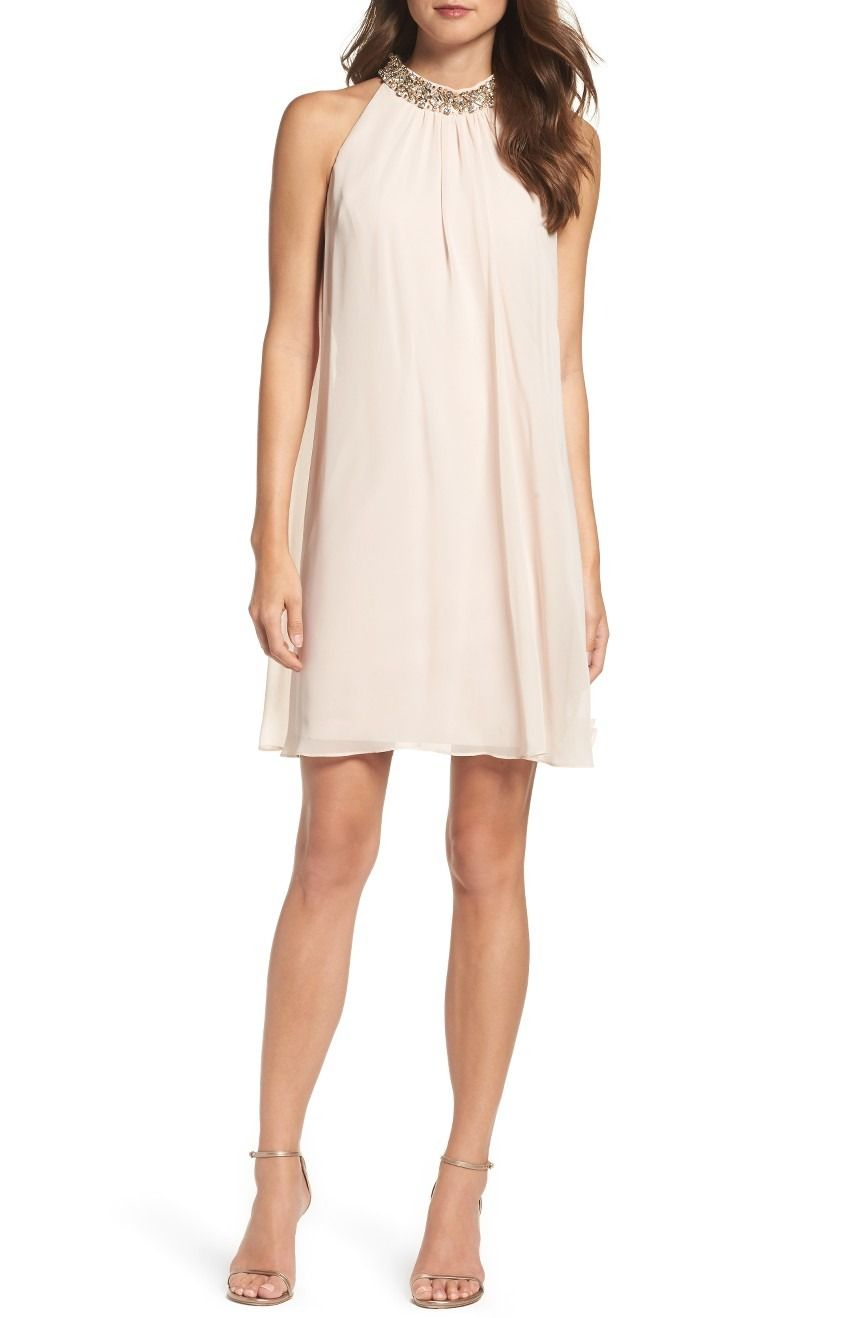 Vince Camuto Beaded Collar Trapeze Dress Nordstrom Dresses Trapeze Dress Fashionable Work Outfit [ 1318 x 860 Pixel ]