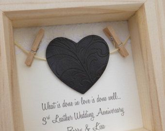 3rd anniversary gift 3rd wedding anniversary gift leather
