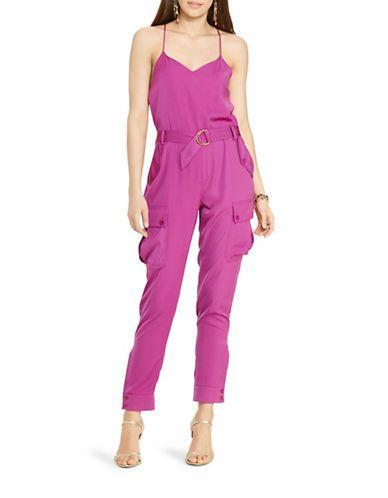 63c5b761f893 Lauren Ralph Lauren Plus Charmeuse Sleeveless Jumpsuit Women s Purple