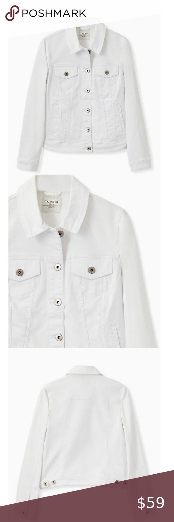 Nwt Torrid White Denim Jacket Size 2 White Denim Jacket White Denim Red Denim Jacket [ 1740 x 580 Pixel ]