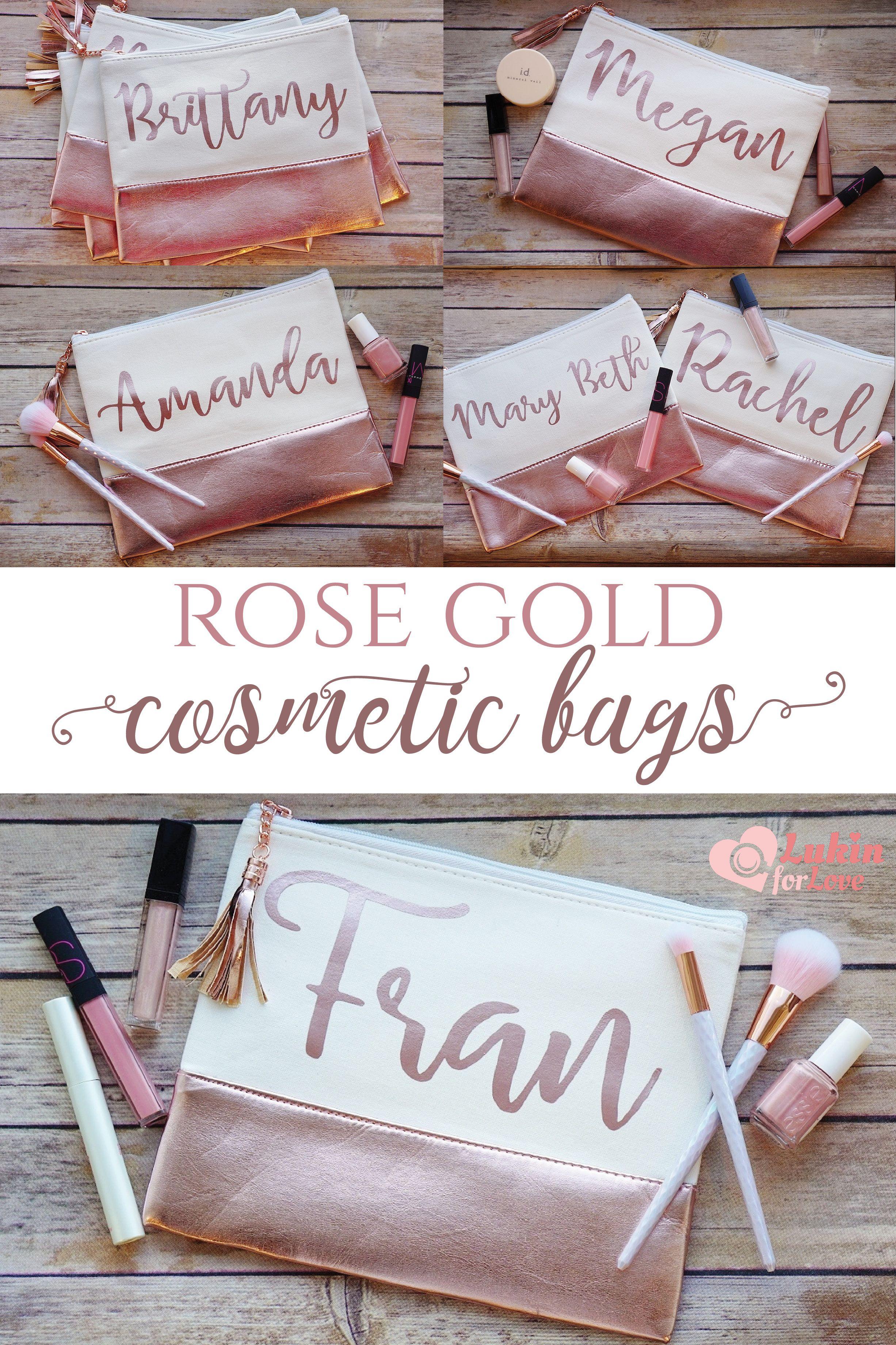 Personalized Cosmetic Bag, Makeup Bag, Bridesmaid Gift