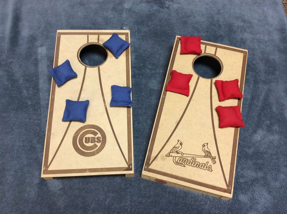 Mini Cornhole Game Cardinals And Cubs