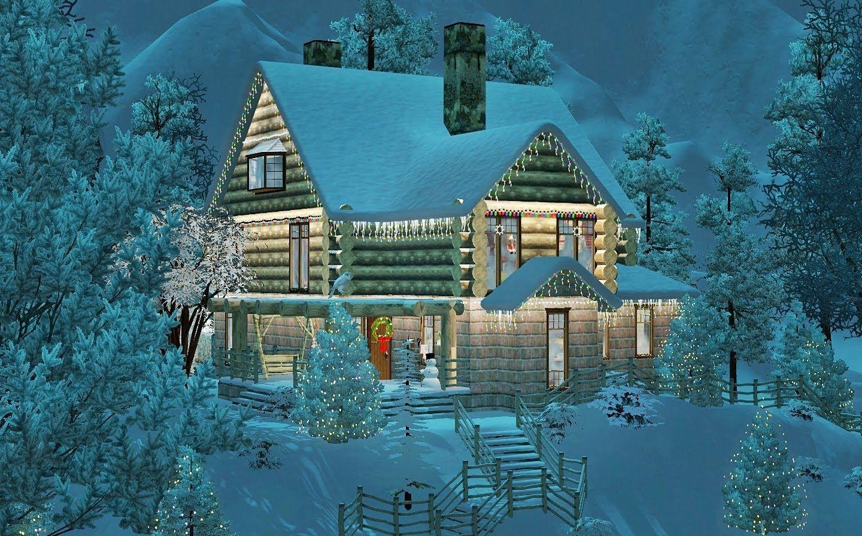Sims 3 - Christmas dream log house featuring Julia Engel - 1080p