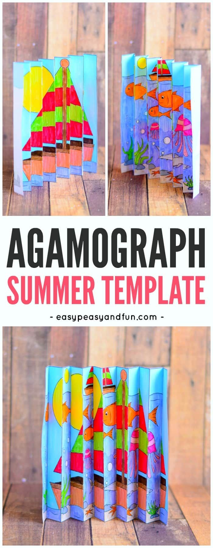 fathers day agamograph template summer agamograph template summer craft and activities 4440