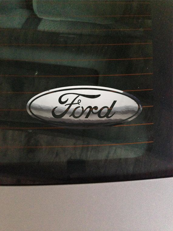 Ford Chrome Vinyl Decal Car Window Wall Art By Greenmountainvinyl