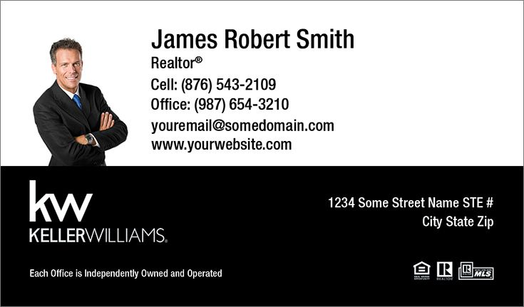 Black And White Business Cards Template Keller Williams At - Keller williams business card templates