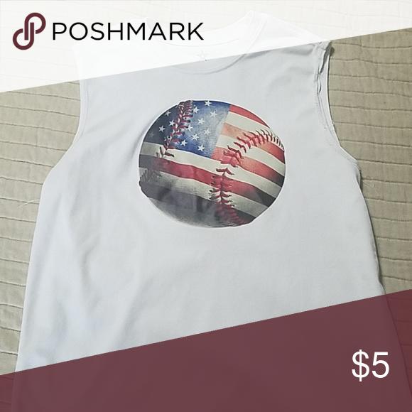 f18649e3 Boys Sleeveless Baseball Shirt Patriotic Sleeveless Baseball Shirt Shirts & Tops  Tank Tops