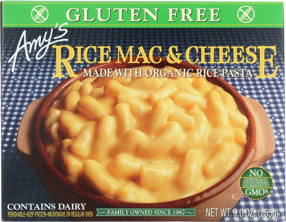Amys gluten free rice pasta rice mac cheese 9 oz