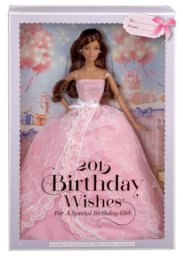 Barbie 2015 Birthday Wishes Hispanic New In The Box Mattel 887961108712
