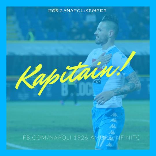 "💪🏼👊🏼 "" Kapitain "" #MarekHamsik  ⚽ #ForzaNapoliSempre #NAI1926 #SSCN"