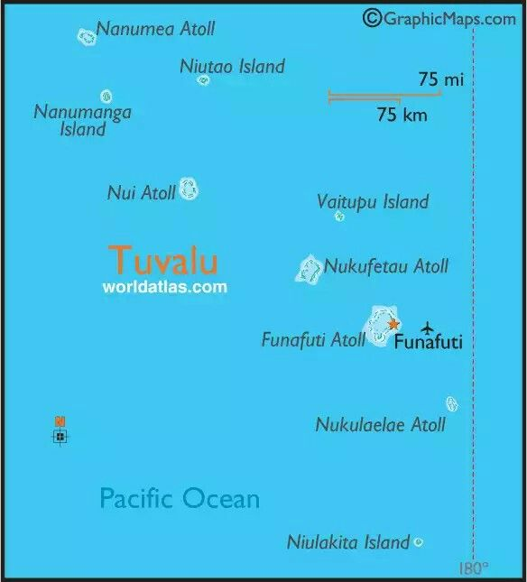 Map of Tuvalu 1 Maps Geography Pinterest