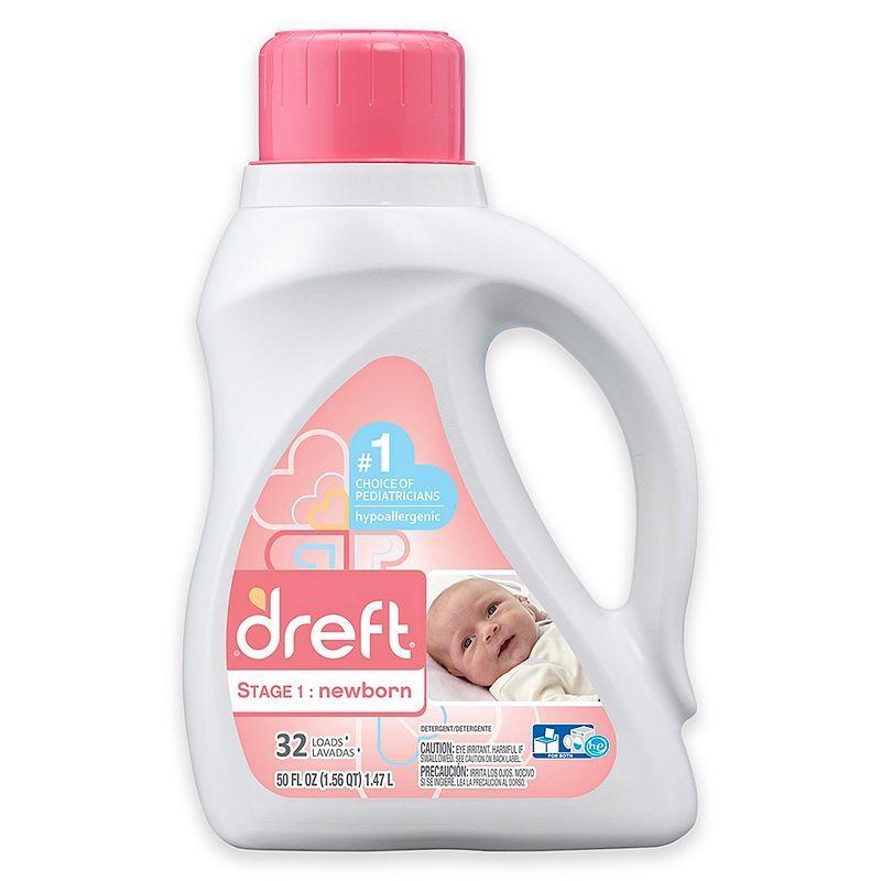 Dreft High Efficiency Liquid Detergent In 50 Ounces 32 Loads
