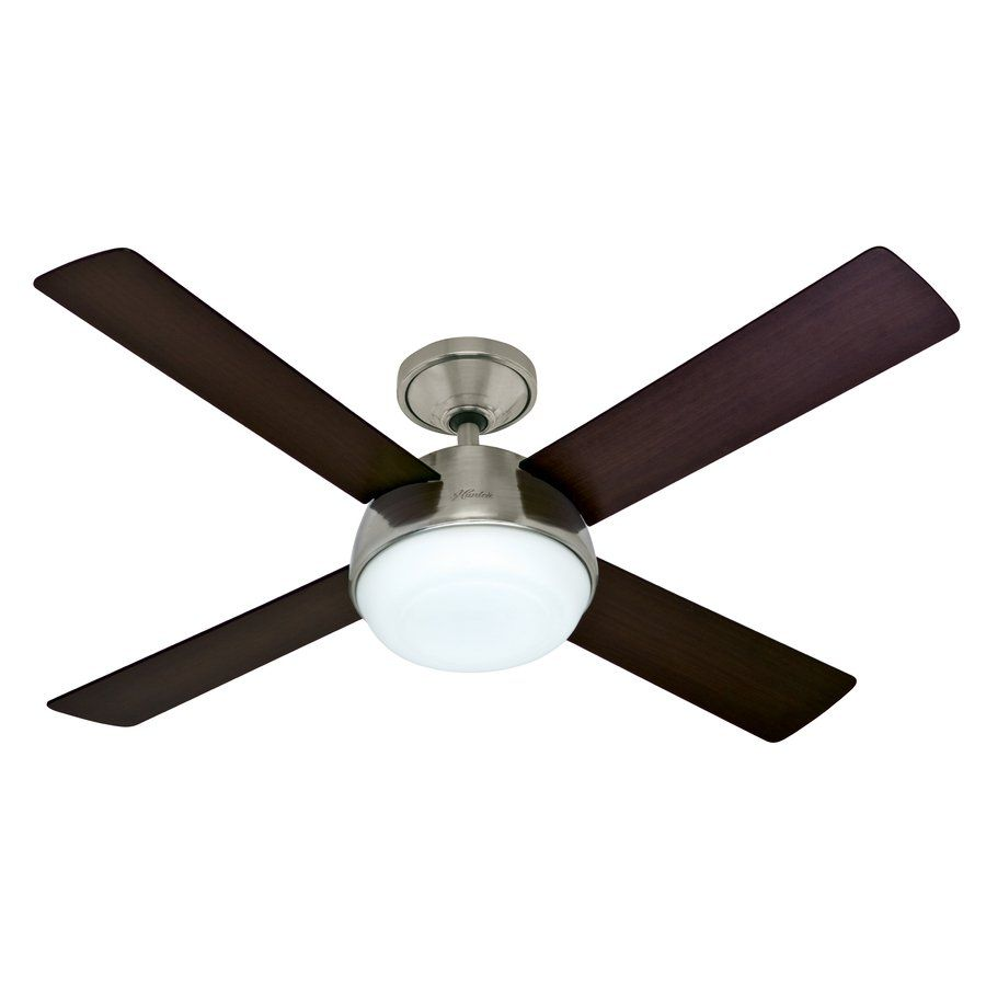 Hunter Fan Company Arvada Led Brushed Nickel Ceiling At Lowe S Canada Find Our Selection Of Fans The Lowest Price Guaranteed With
