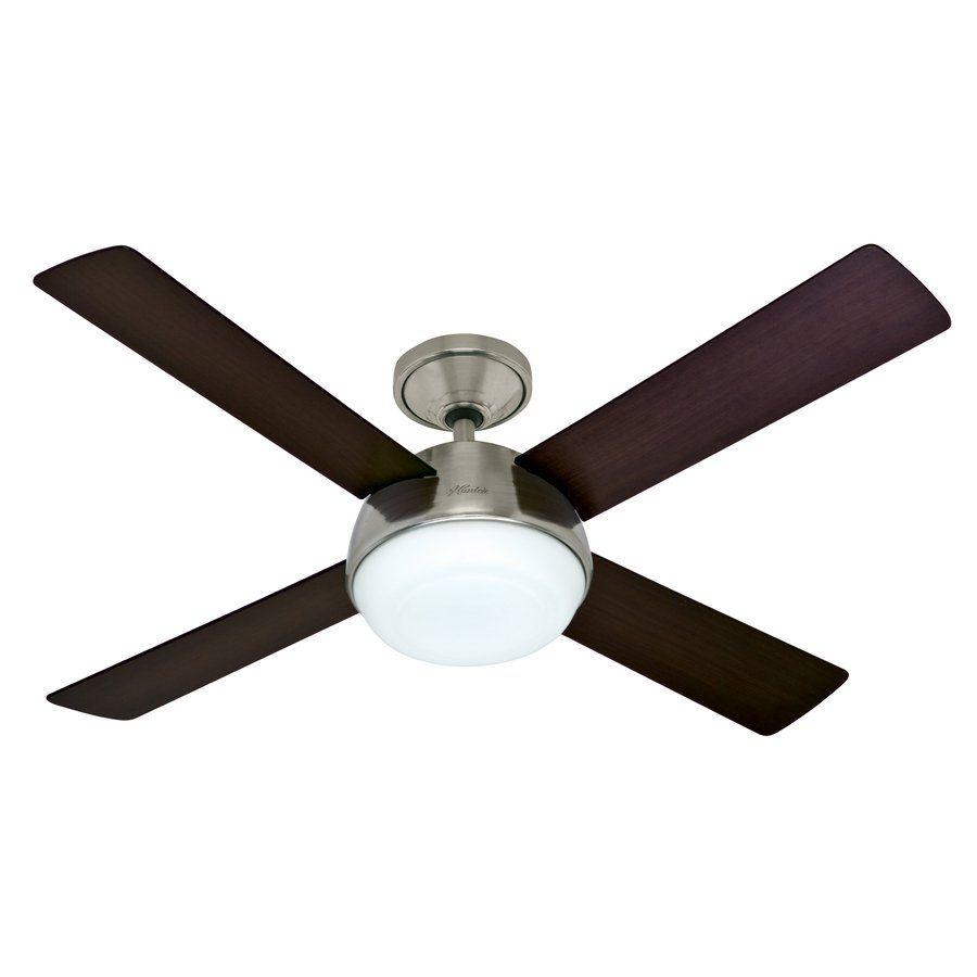 Hunter 52 in arvada led brushed nickel ceiling fan lowes canada hunter 52 in arvada led brushed nickel ceiling fan lowes canada mozeypictures Gallery