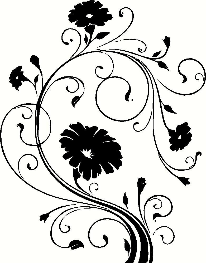 Items similar to fancy flowers floral scroll vinyl wall decal sticker art graphic on etsy