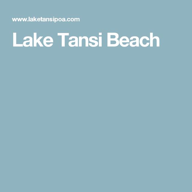 Lake Tansi Beach Lake Beach Crossville