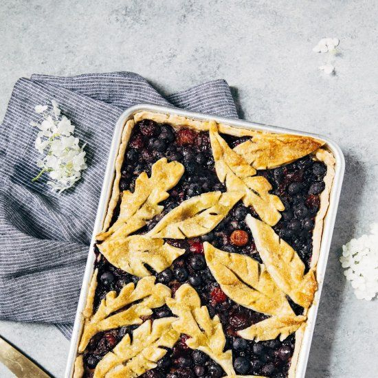 #delicious blueberry slab pie #foodie