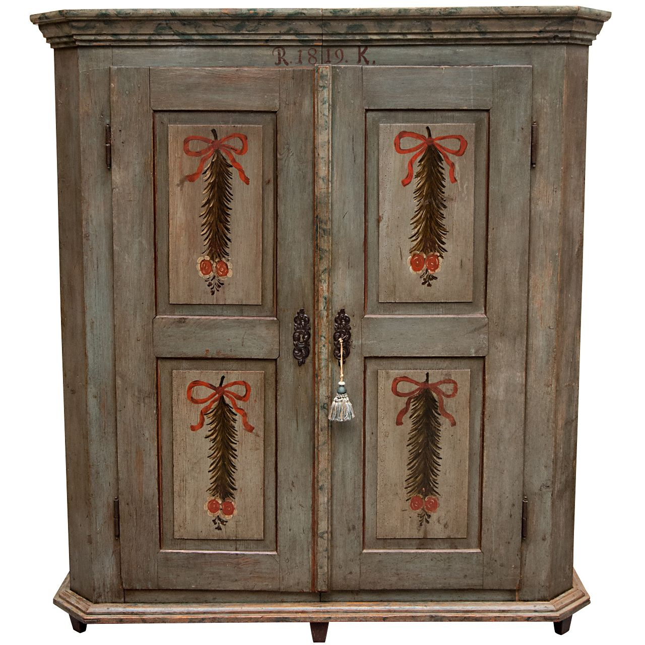 Painted Pine Armoire | 1stdibs.com. Primitive BedroomModern WardrobeFurniture  ...