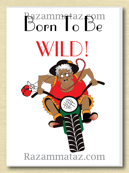Born to be wild african american greeting card daily post born to be wild african american greeting card m4hsunfo Gallery