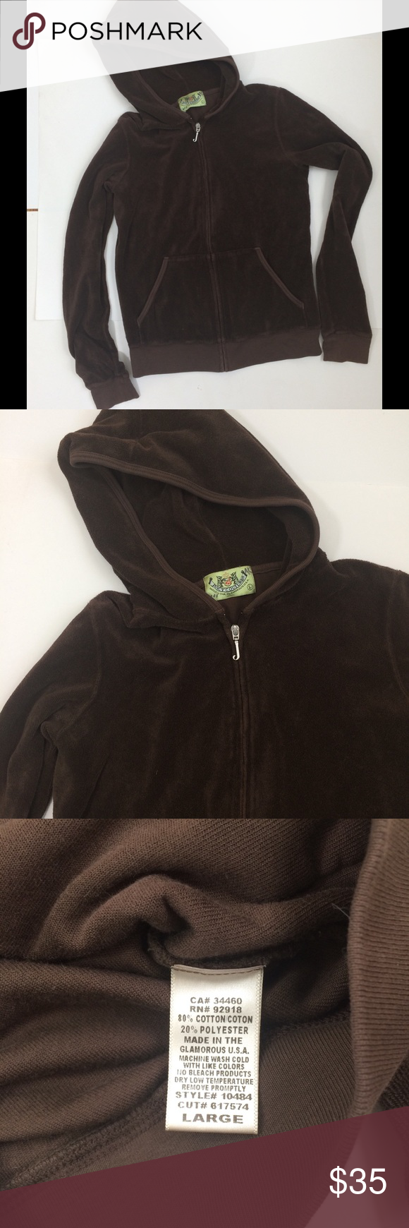 Listing juicy couture velour hoodie couture tops juicy couture