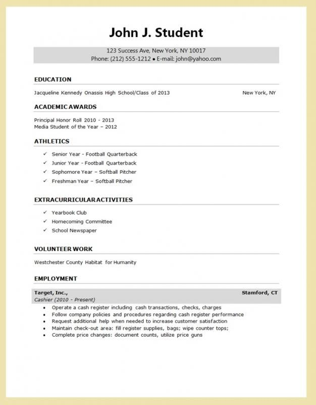 college student resume templates microsoft word template. Black Bedroom Furniture Sets. Home Design Ideas