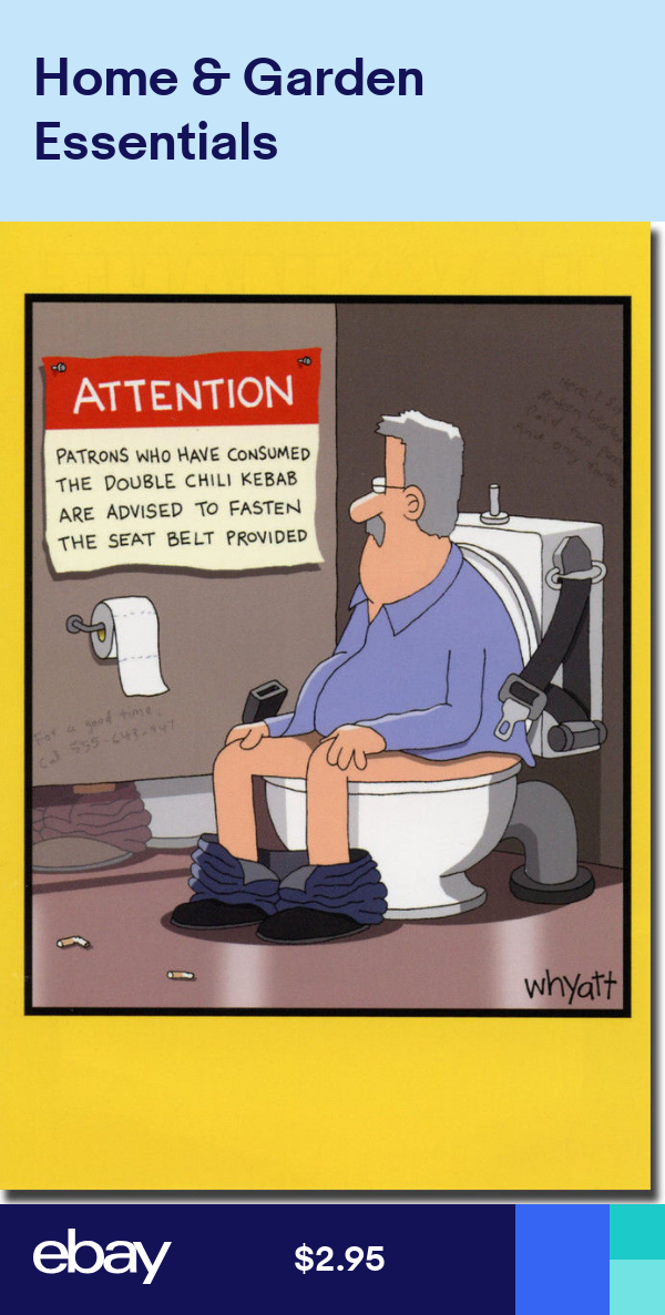 Warning In Bathroom Stall Funny Tim Whyatt Birthday Card By Nobleworks Funny Cartoon Pictures Cartoon Jokes Funny Cartoons