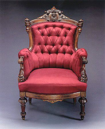 High Style Mass Produced Furniture   Rare Victorian  Would Want It Redder,  Or Green Or Cream