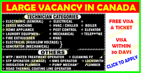 Large Vacancy In Canada Apply Now How To Apply Water Treatment Find A Job