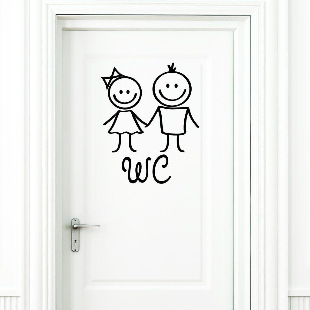 Wandtattoo Loft Wc Aufkleber Mann Und Frau In Schwarz Turaufkleber Badezimmer Toilette Turschild Sticker Amazon De Kuche Wandtattoo Aufkleber Turaufkleber